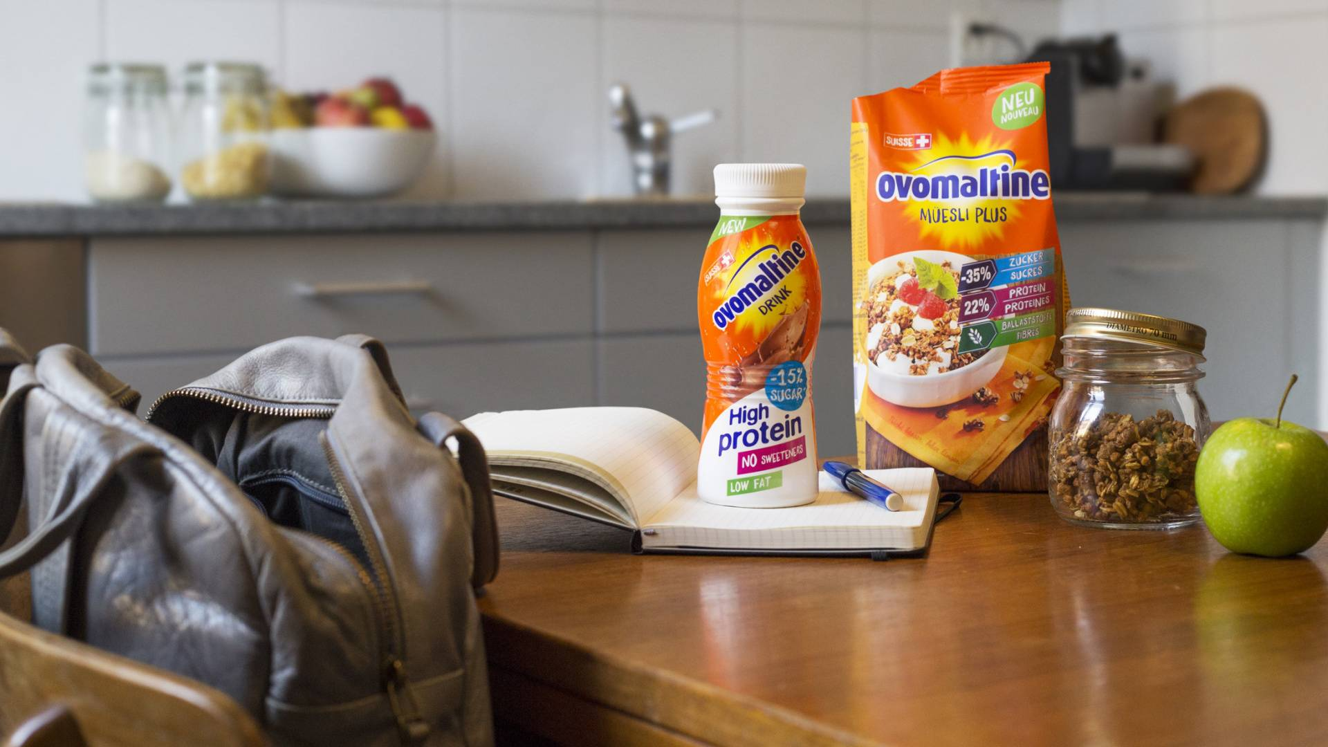 Ovomaltine Müesli Plus und Ovomaltine High Protein Drink