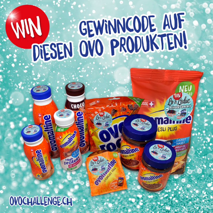Leporellos auf Ovo Produkten, Ovo Challenge